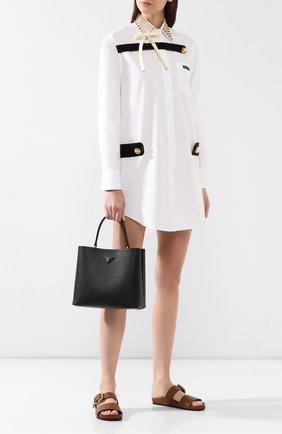 Женская сумка panier  PRADA черного цвета, арт. 1BA211-2ERX-F0LJ4-OOO | Фото 2