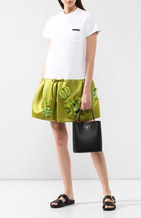 Женская сумка panier  PRADA черного цвета, арт. 1BA212-2ERX-F0LJ4-OOO | Фото 2