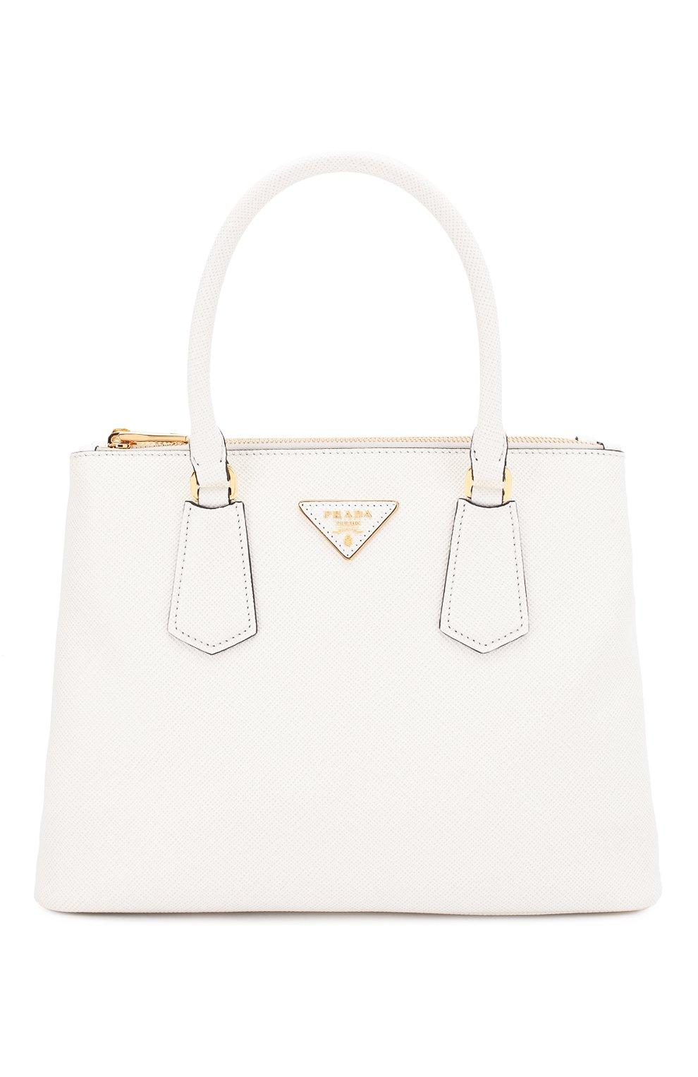 9b5e2eada76f Женская сумка galleria PRADA белая цвета — купить за 176500 руб. в ...
