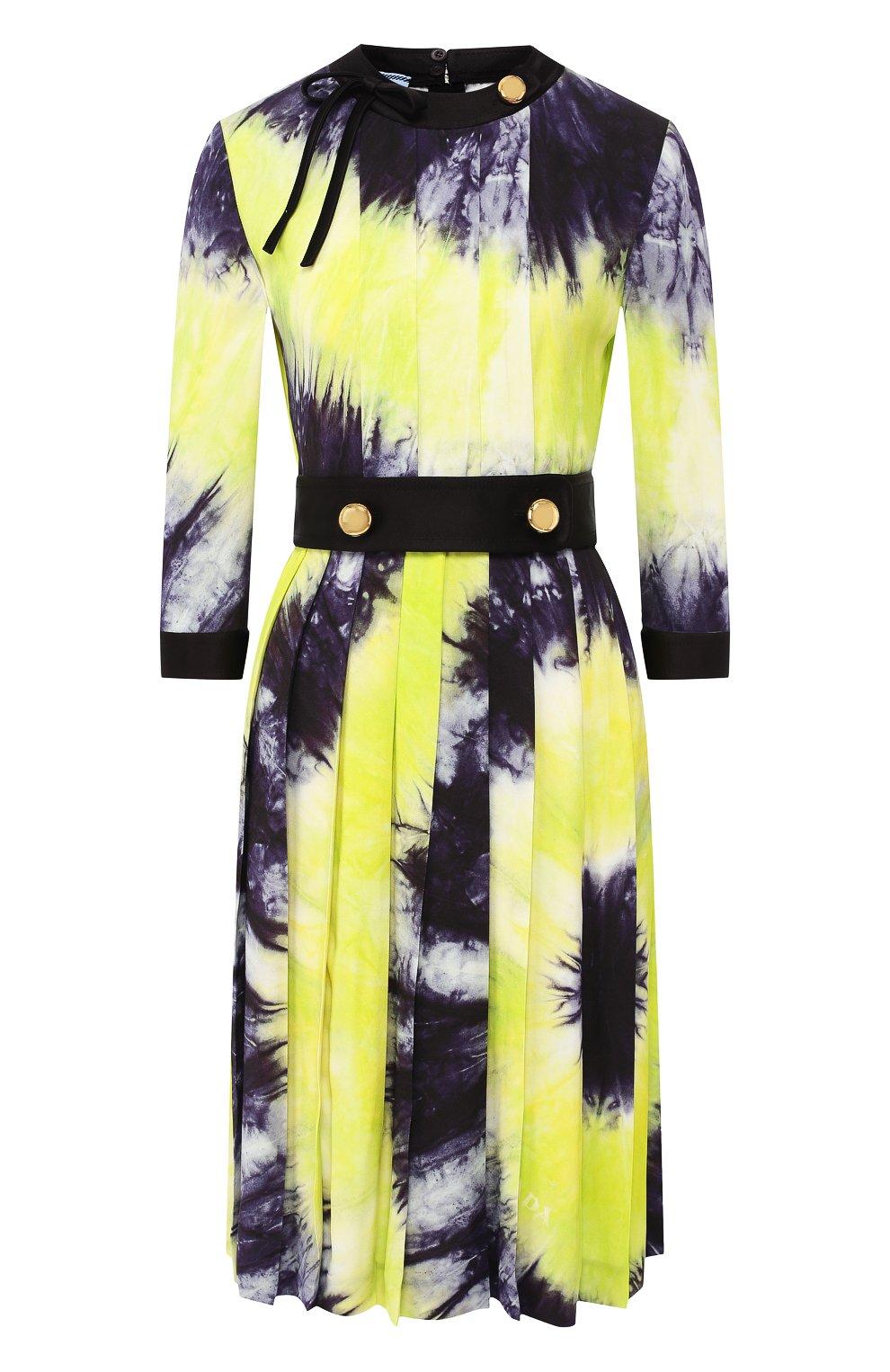 Женское платье с принтом PRADA разноцветного цвета, арт. P38M4-1UI7-F0YPE | Фото 1
