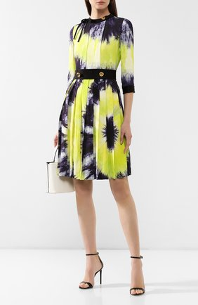 Женское платье с принтом PRADA разноцветного цвета, арт. P38M4-1UI7-F0YPE | Фото 2