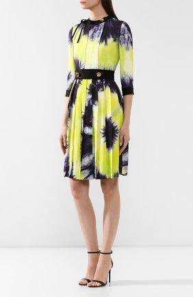 Женское платье с принтом PRADA разноцветного цвета, арт. P38M4-1UI7-F0YPE | Фото 3