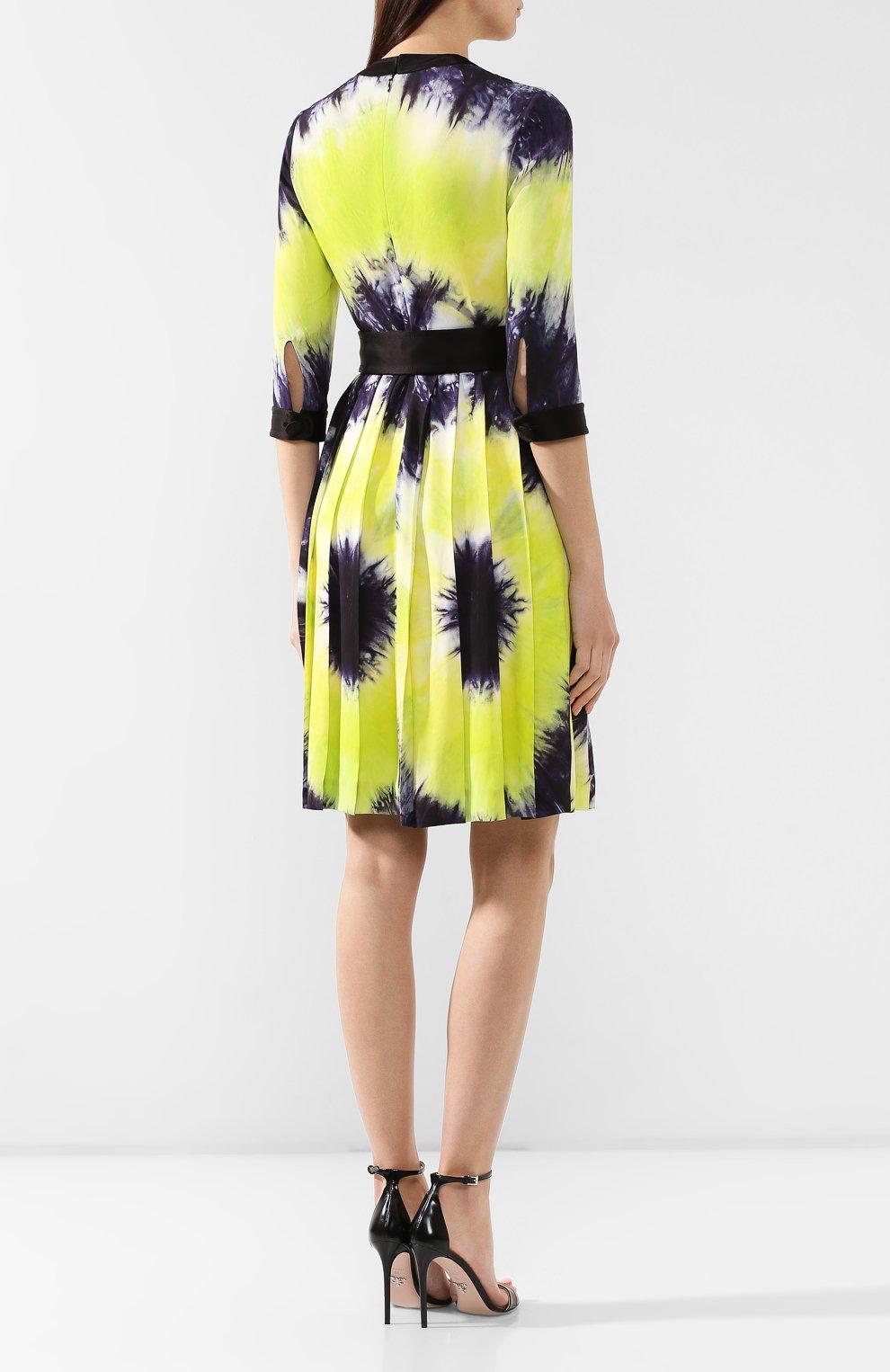 Женское платье с принтом PRADA разноцветного цвета, арт. P38M4-1UI7-F0YPE | Фото 4