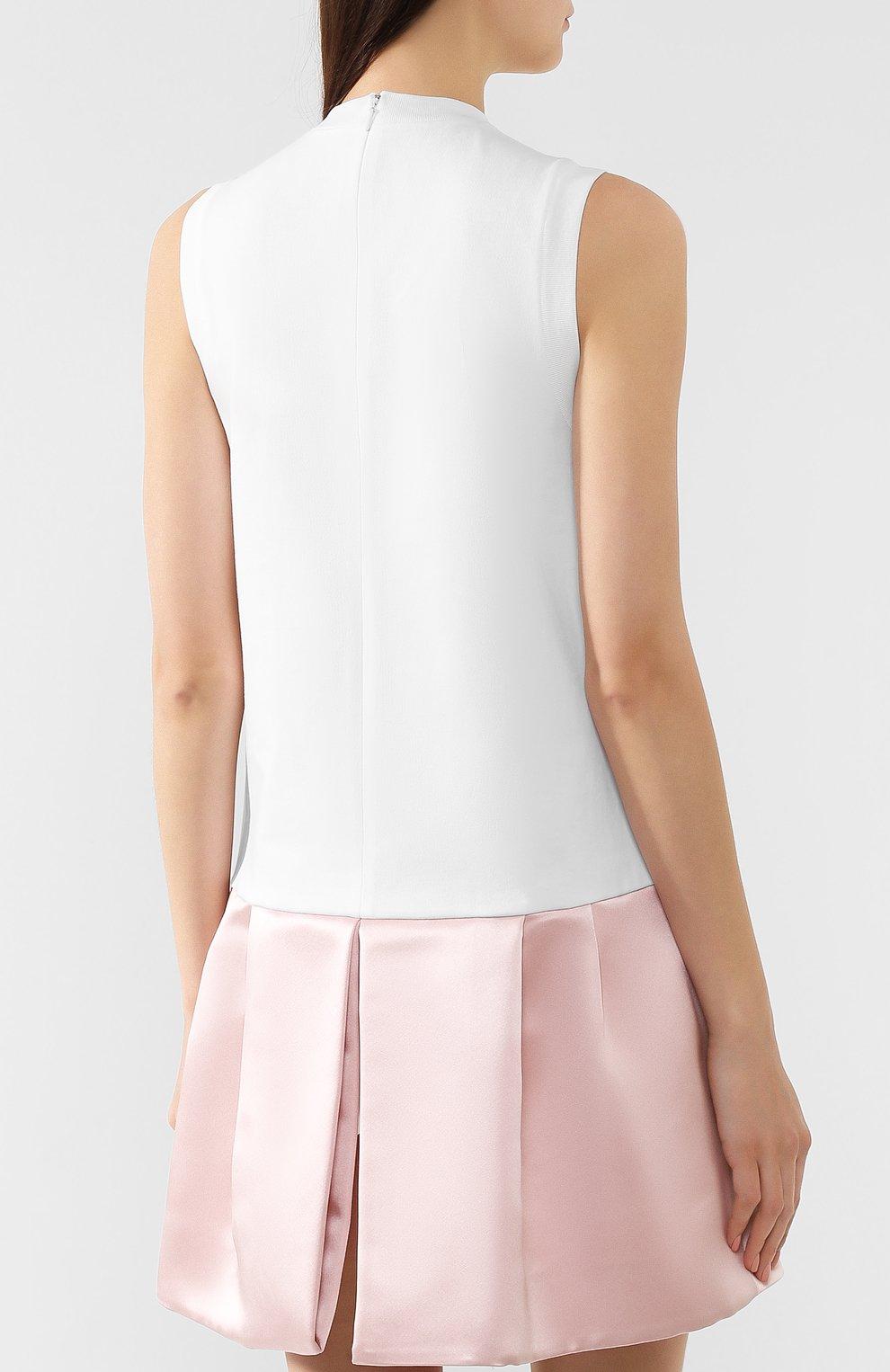 Женское хлопковое платье PRADA разноцветного цвета, арт. P38G6R-1UOM-F0I0H | Фото 4