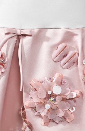 Женское хлопковое платье PRADA разноцветного цвета, арт. P38G6R-1UOM-F0I0H | Фото 5