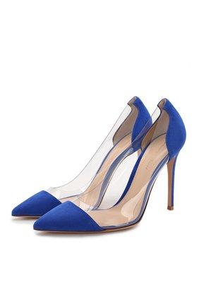 Комбинированные туфли Gianvito 105 | Фото №1