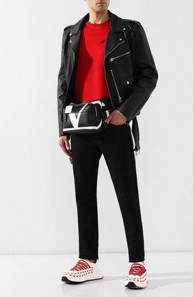 Кожаная поясная сумка Valentino Garavani | Фото №2
