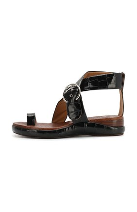 Кожаные сандалии Wave Chloé черные   Фото №3