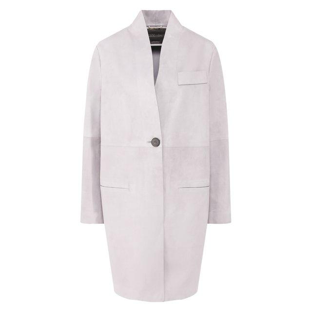 Кожаное пальто Giorgio Armani