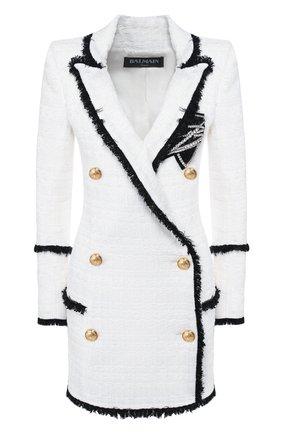 Платье Balmain черно-белое | Фото №1