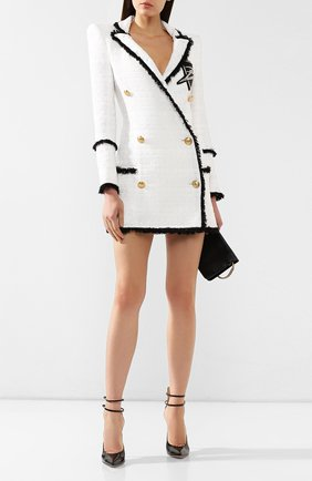 Платье Balmain черно-белое | Фото №2