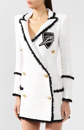 Платье Balmain черно-белое | Фото №3