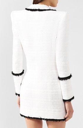 Платье Balmain черно-белое | Фото №4
