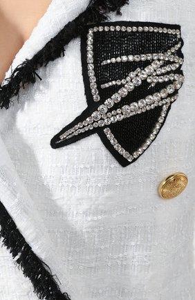 Платье Balmain черно-белое | Фото №5
