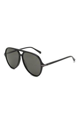 Мужские солнцезащитные очки BRIONI черного цвета, арт. 0DA000/P3ZAC | Фото 1