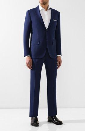 Мужской костюм из смеси шерсти и кашемира KITON темно-синего цвета, арт. UA81K07P38 | Фото 1