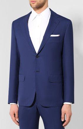 Мужской костюм из смеси шерсти и кашемира KITON темно-синего цвета, арт. UA81K07P38 | Фото 2