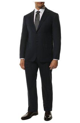 Мужской шерстяной костюм KITON темно-синего цвета, арт. UA81K01X37 | Фото 1