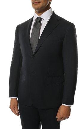 Мужской шерстяной костюм KITON темно-синего цвета, арт. UA81K01X37 | Фото 2