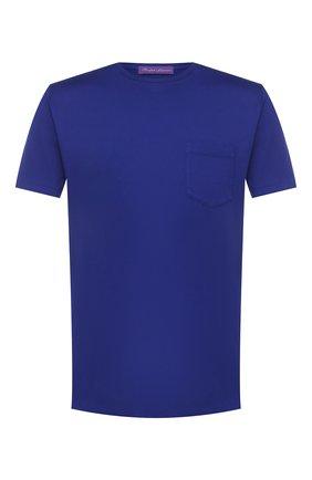 Мужская хлопковая футболка RALPH LAUREN синего цвета, арт. 790687036 | Фото 1