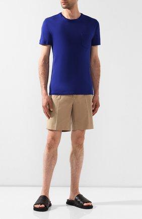 Мужская хлопковая футболка RALPH LAUREN синего цвета, арт. 790687036 | Фото 2