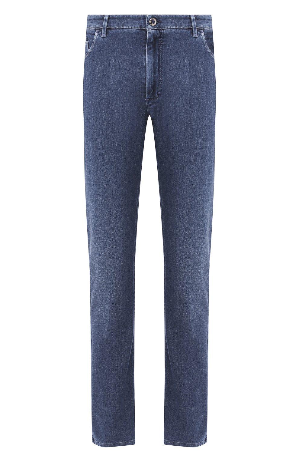 Мужские джинсы ZILLI синего цвета, арт. MCR-00010-DEJA1/S001/AMIS | Фото 1