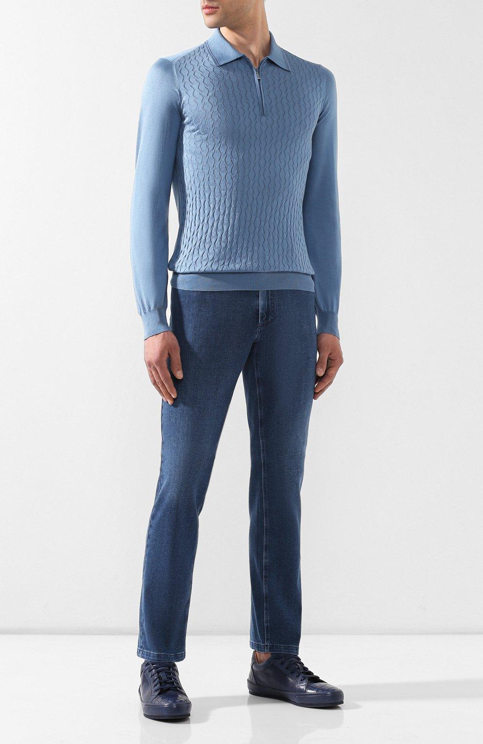 Мужские джинсы ZILLI синего цвета, арт. MCR-00010-DEJA1/S001/AMIS | Фото 2