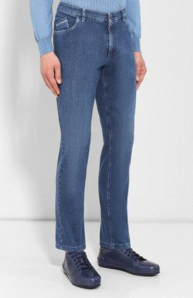 Мужские джинсы ZILLI синего цвета, арт. MCR-00010-DEJA1/S001/AMIS | Фото 3