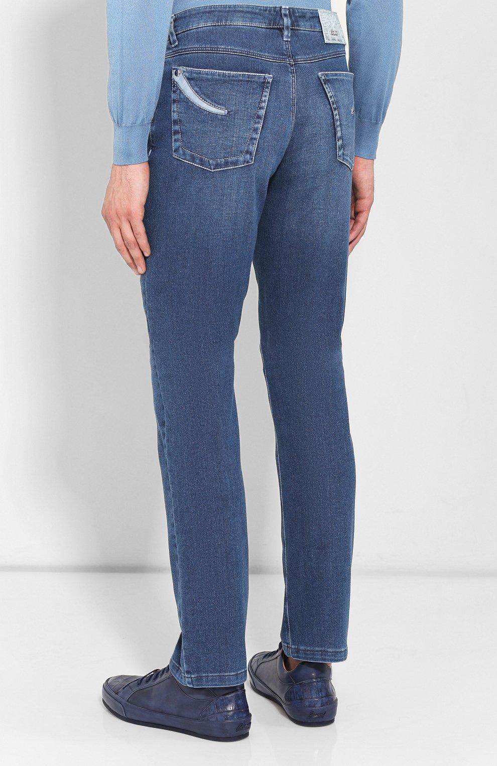 Мужские джинсы ZILLI синего цвета, арт. MCR-00010-DEJA1/S001/AMIS | Фото 4