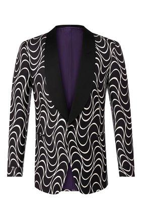 Мужской шелковый пиджак RALPH LAUREN черно-белого цвета, арт. 798744111 | Фото 1