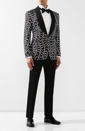 Мужской шелковый пиджак RALPH LAUREN черно-белого цвета, арт. 798744111 | Фото 2