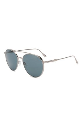Мужские солнцезащитные очки TOM FORD серебряного цвета, арт. TF691 | Фото 1