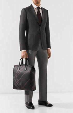 Мужская текстильная сумка DUNHILL черного цвета, арт. DU19R3870SC | Фото 2