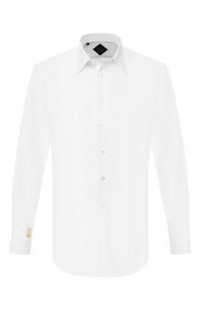 Мужская хлопковая сорочка BILLIONAIRE белого цвета, арт. I19C MRP0912 BTE002N | Фото 1