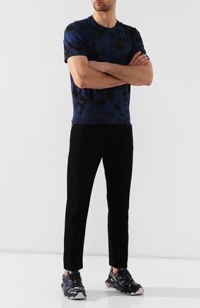 Мужские комбинированные кроссовки valentino garavani bounce VALENTINO синего цвета, арт. SY2S0B15/ZGG | Фото 2