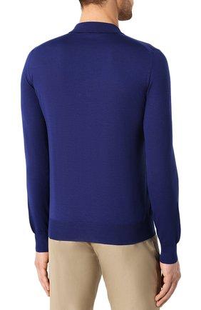 Мужское шерстяное поло BRIONI синего цвета, арт. UMS10L/0ZK18 | Фото 4