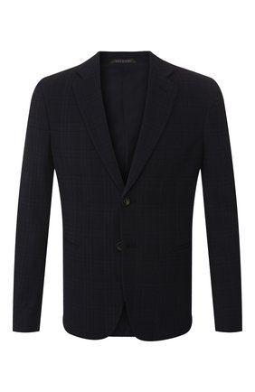 Мужской шерстяной пиджак GIORGIO ARMANI темно-синего цвета, арт. 9SGGG06L/T010C   Фото 1