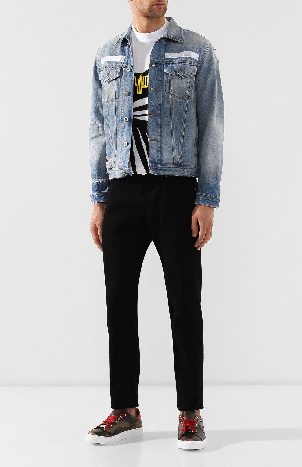 Джинсовая куртка Diesel синяя | Фото №2