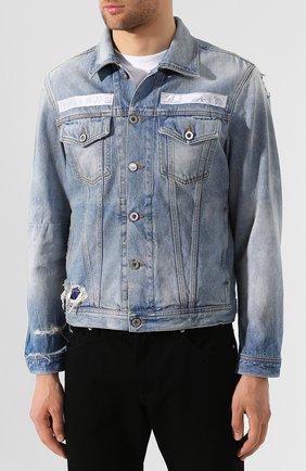 Джинсовая куртка Diesel синяя | Фото №3