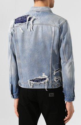 Джинсовая куртка Diesel синяя | Фото №4