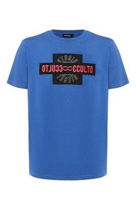 Хлопковая футболка Diesel синяя   Фото №1