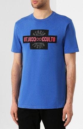 Хлопковая футболка Diesel синяя   Фото №3