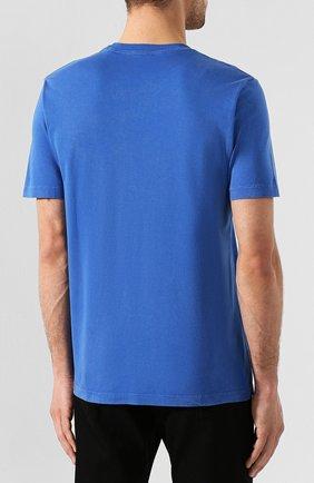 Хлопковая футболка Diesel синяя   Фото №4