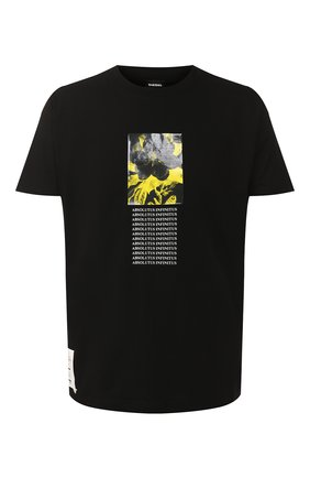 Хлопковая футболка Diesel черная   Фото №1