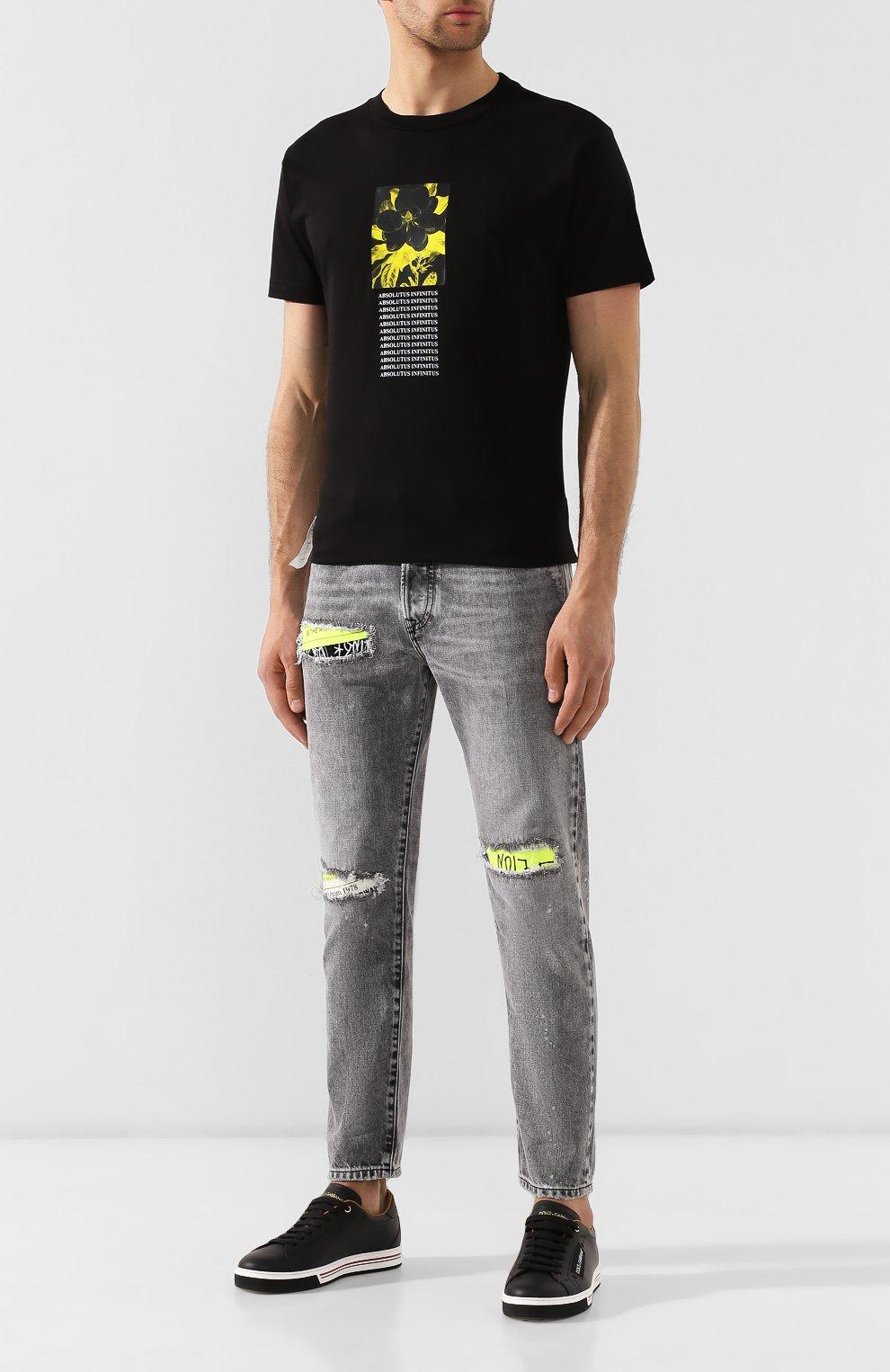Хлопковая футболка Diesel черная   Фото №2