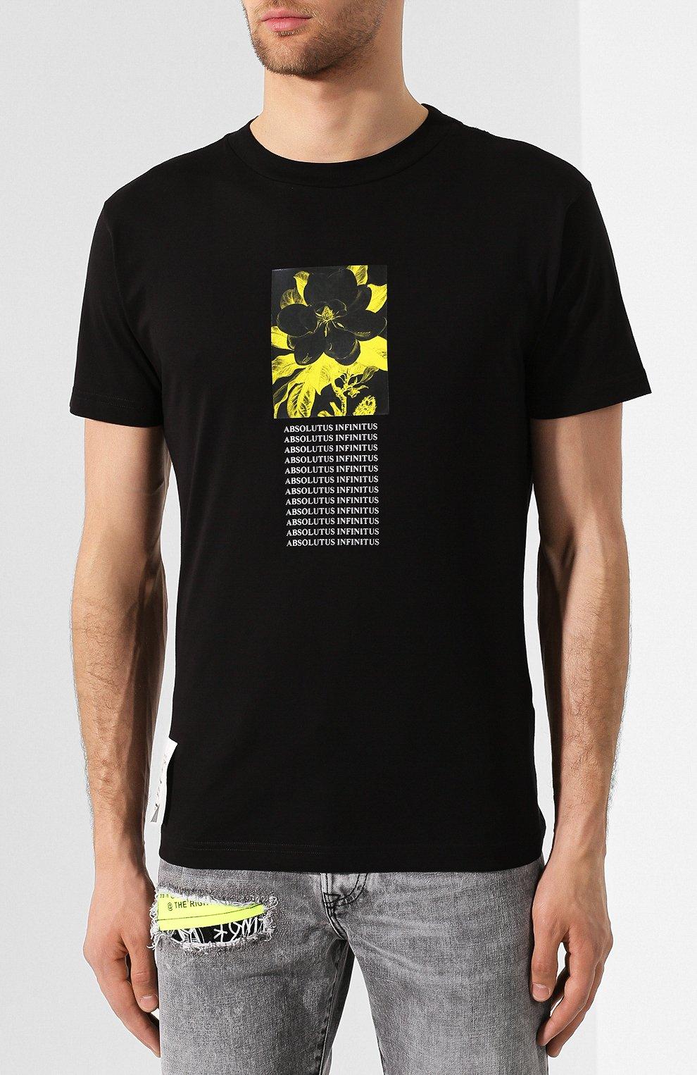 Хлопковая футболка Diesel черная   Фото №3