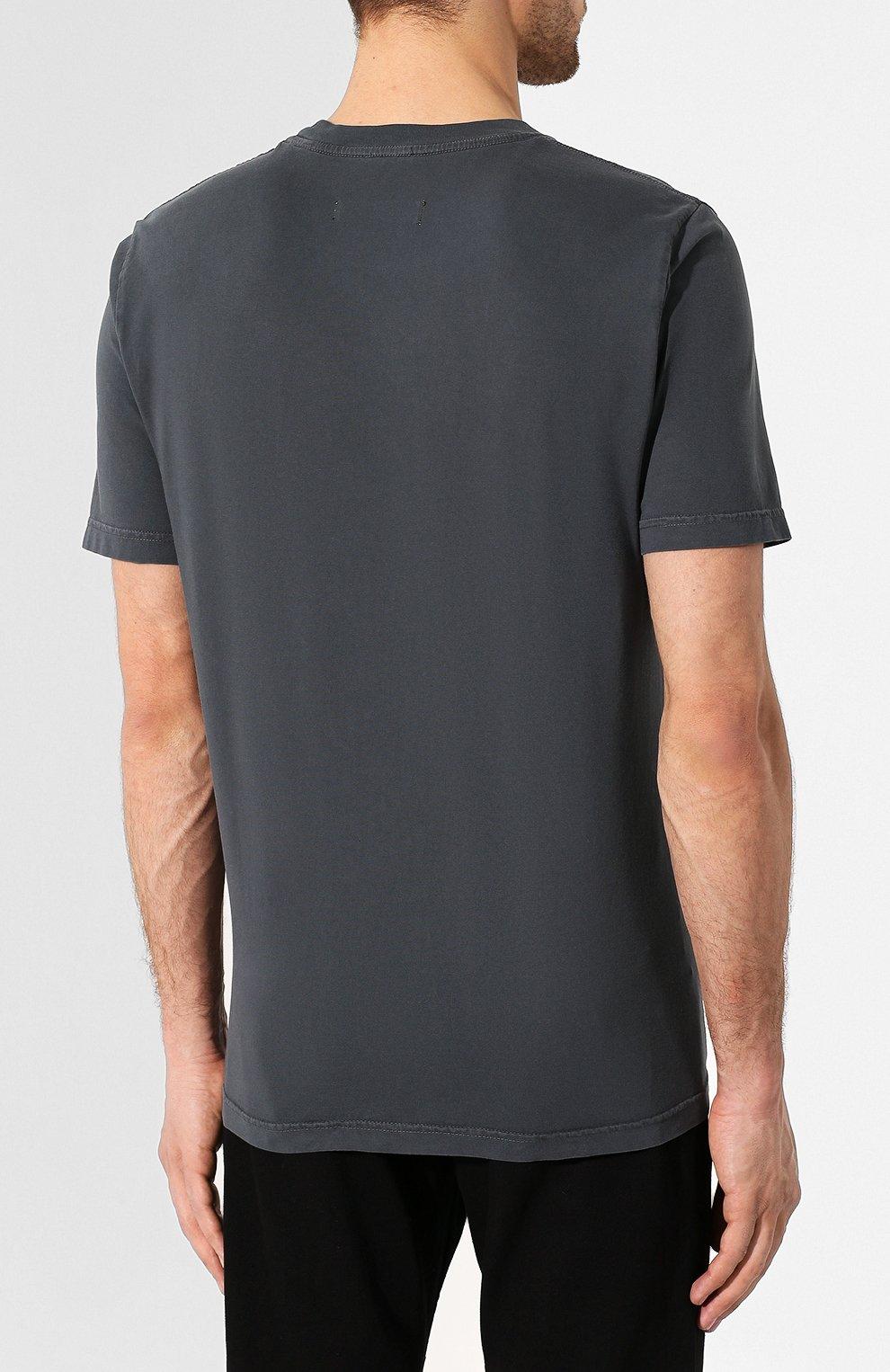 Хлопковая футболка Diesel серая | Фото №4
