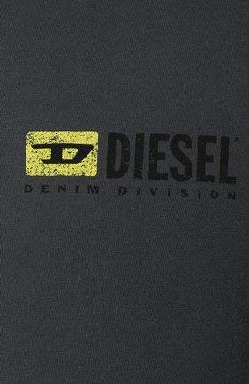 Хлопковая футболка Diesel серая | Фото №5