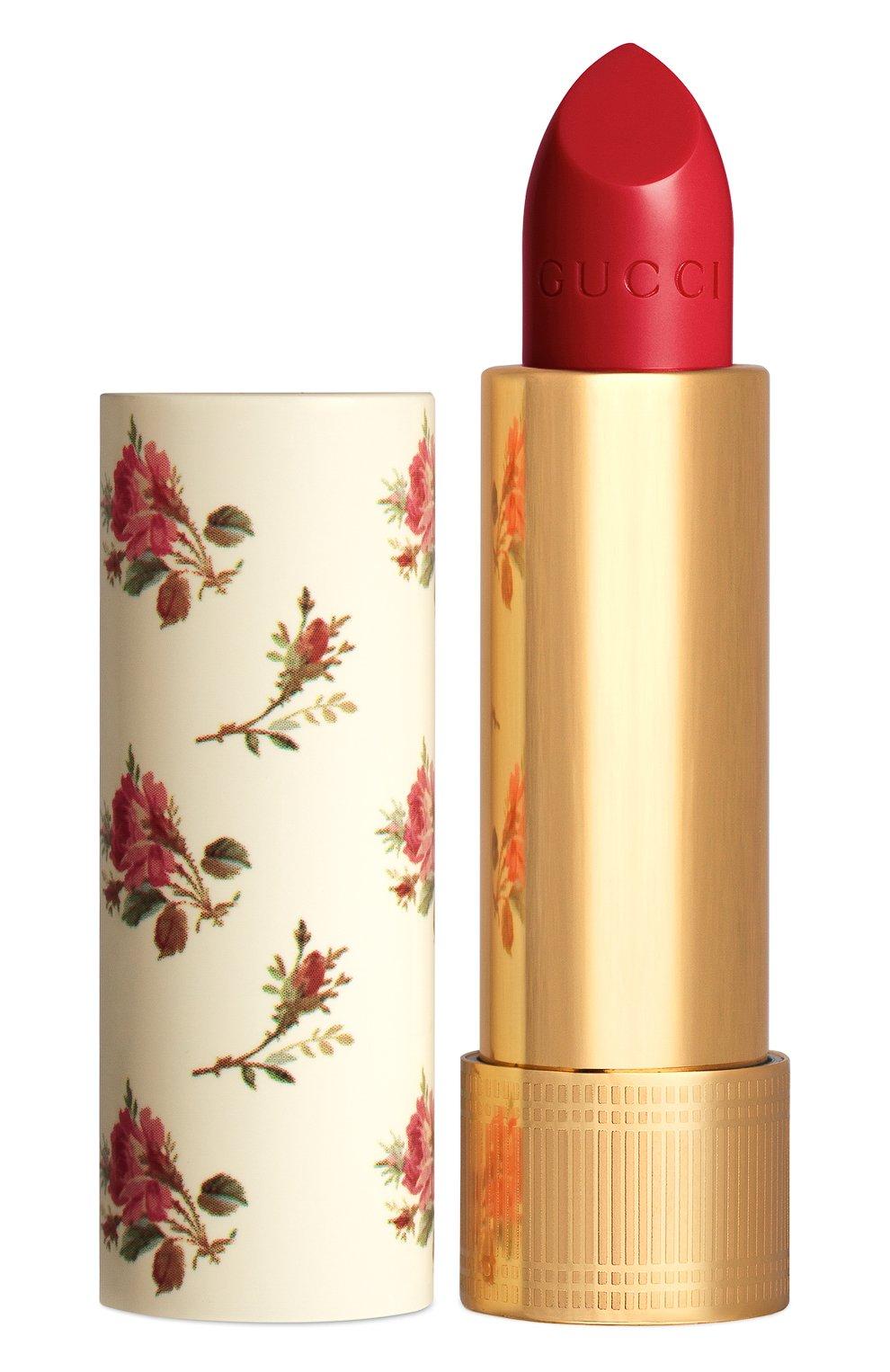 Женская увлажняющая помада с сиянием, 25 goldie red GUCCI бесцветного цвета, арт. 3614227749740   Фото 1