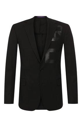 Мужской хлопковый пиджак RALPH LAUREN черного цвета, арт. 798744110 | Фото 1